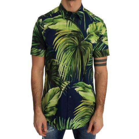 Green Banana Cotton Short Sleeve Men's Shirt - 40