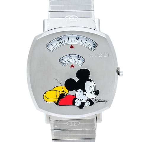 Gucci Silver Stainless Steel Disney x Gucci Grip - N/A