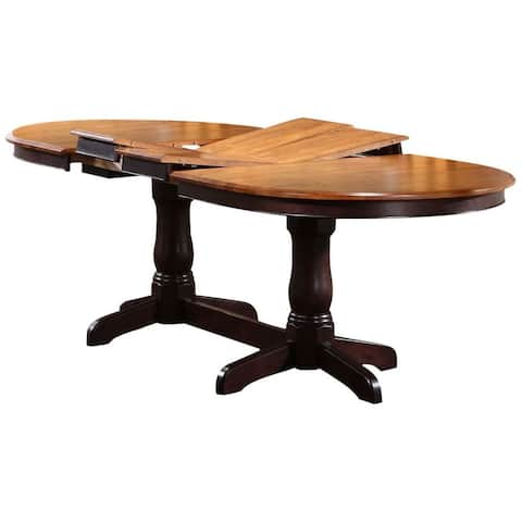 Iconic Furniture Whiskey/ Mocha Oval Dining Table - Multi