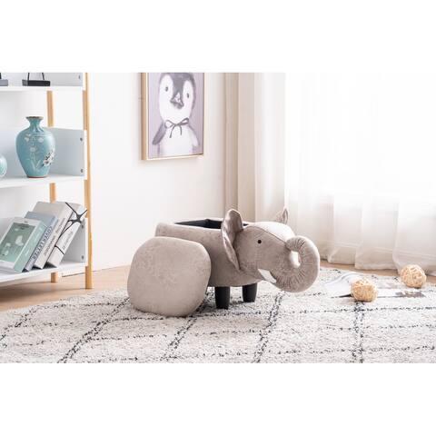 Elliot the Elephant Storage Upholstered Kids Ottoman