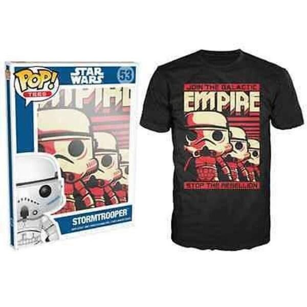 Funko Pop Black Star Wars Stormtrooper Emp T-Shirt