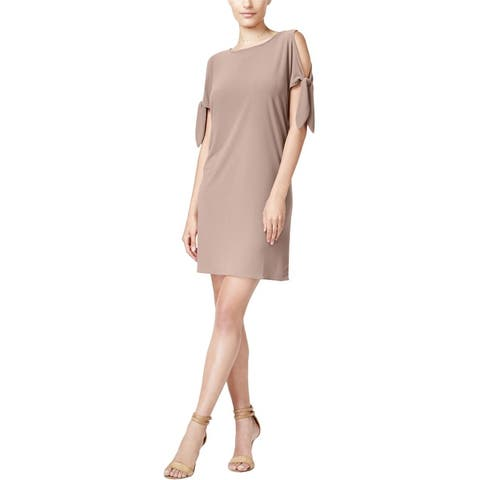 Bar Iii Womens Tie Detail Shift Dress