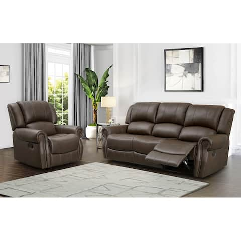 Abbyson Calabasas Reclining Sofa and Recliner Set