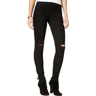 Jessica Simpson Womens Skinny Jeans Destroyed Coated