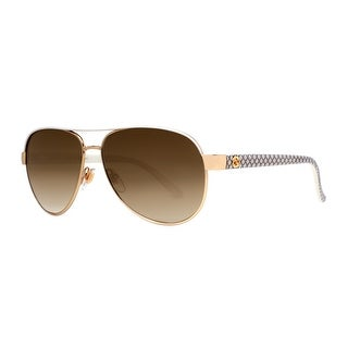 GUCCI Aviator GG 4239/S Women's DZB/ED Ivory White/Gold Brown Gradient Sunglasses - 58mm-13mm-135mm