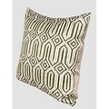 "G Home Collection Luxury Green Classical Geometry Pattern Embroidered Pillow 20""X20"" - Thumbnail 1"