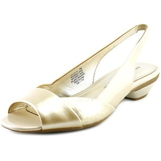 Anne Klein AK 7Layth Women Peep-Toe Synthetic Slingback Heel