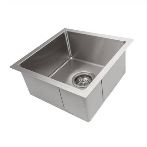 ZLINE Undermount Single Bowl Bar Sink in Stainless Steel (SUS-15)