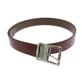 Robert Graham Mens Baker Leather Reversible Dress Belt - 34