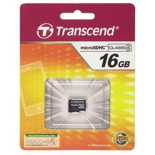Transcend 16GB microSDHC Flash Memory Card