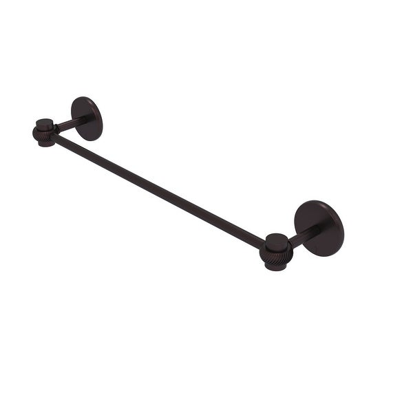 Allied Brass Satellite Orbit One Collection Towel Bar with Twist Accents