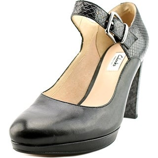 Clarks Kendra Gaby Women Round Toe Leather Black Mary Janes