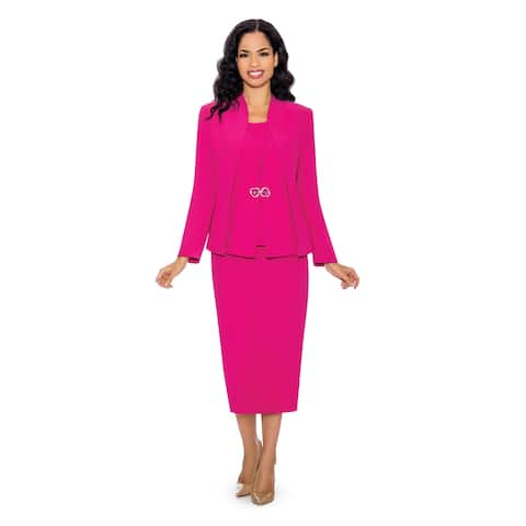 Giovanna Signature Women's Layered Panels 3-piece Washable Skirt Suit