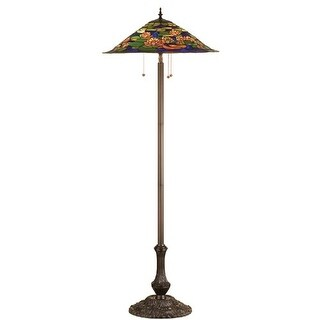 Meyda Tiffany 32301 Stained Glass / Tiffany Floor Lamp from the Pond Lily Collection