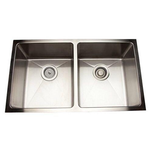 shop mirabelle miruc3118 30 7 8 double basin undermount kitchen rh overstock com  overstock kitchen sinks undermount