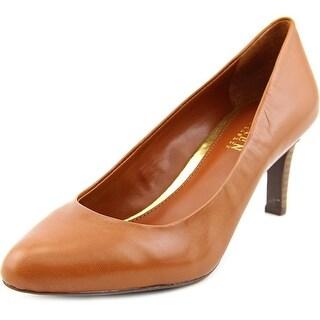 Lauren Ralph Lauren Harper Women  Round Toe Leather Tan Heels