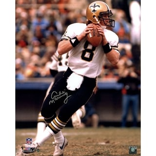 Archie Manning New Orleans Saints White Jersey Vertical 16x20 Photo