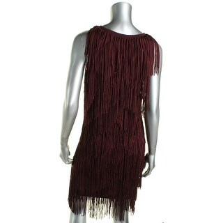 Ella Moss Womens Tank Dress Fringe Sheath