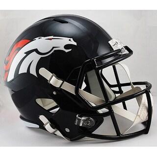 Denver Broncos Riddell Full Size Deluxe Replica Speed Football Helmet