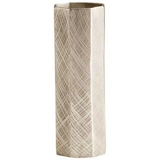 """Cyan Design 09818  Katerina 4-1/4"""" Diameter Aluminum Vase - Antique Silver"""