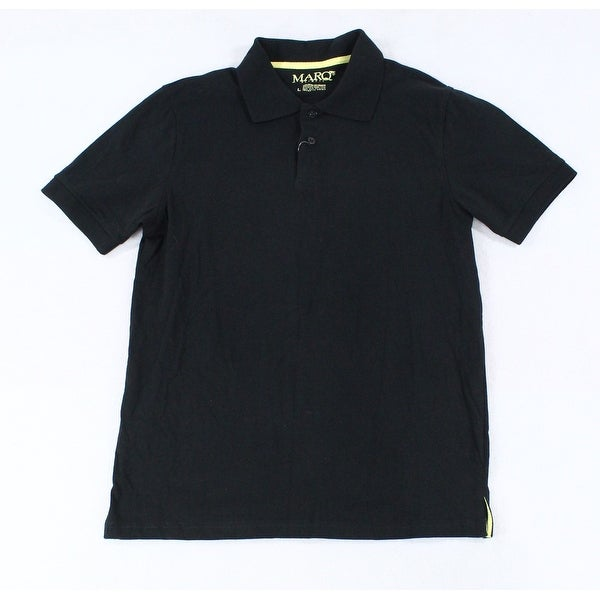 6c4d5576 Mario75 Black Mens Size Large L Slim-Fit Collared Polo Shirt