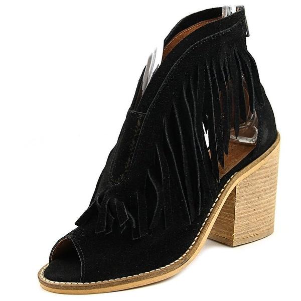 Musse & Cloud Galia Women Open Toe Leather Black Sandals