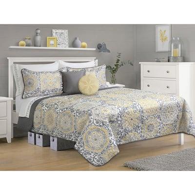 Quilt/Blanket Set 3 Pieces Woven Full-Queen Jensen