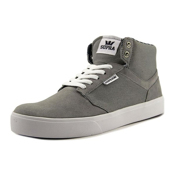 Supra Yorek Hi Men Round Toe Canvas Gray Sneakers