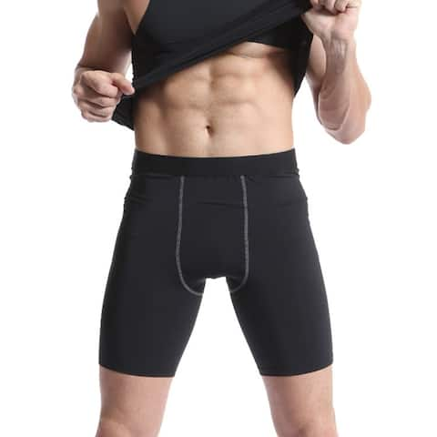Compression Tank Top and Shorts for Men, Odoland Muscle Baselayer Sleeves for Training Running Cycling and Daily Ware - L