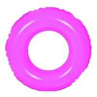 """24"""" Classic Round Pink Inflatable Swimming Pool Inner Tube Ring Float"""
