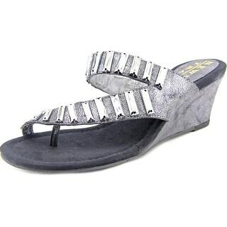 New York Transit Great Times Women Open Toe Synthetic Wedge Heel