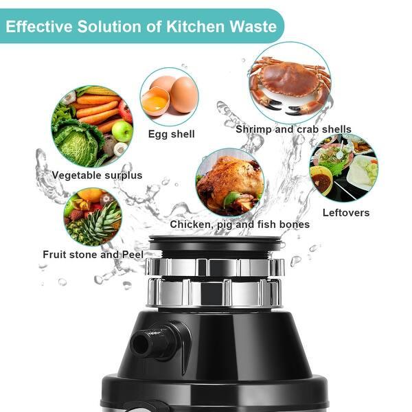 Shop Costway Garbage Disposal 1 HP Household Food Waste ...