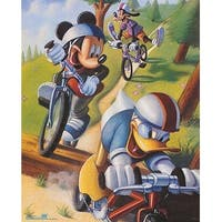 ''Mickey & Friends: Biking'' by Walt Disney Children's Art Art Print (20 x 16 in.)