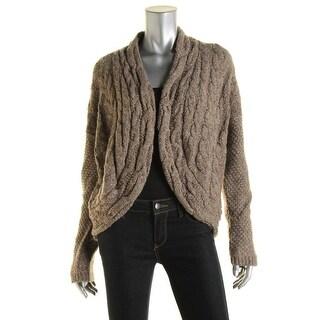 Lauren Ralph Lauren Womens Wool Blend Marled Cardigan Sweater - L