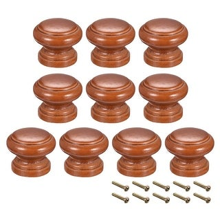 Round Pull Knob Handle 30mm Dia Cabinet Furniture Bedroom Kitchen Drawer 10pcs - 30mmx24mm(D*H)-10pcs