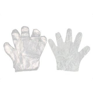 25 Pairs Clear Plastic Restaurant Kitchen Food Service Hand Protective Disposable Gloves