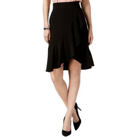 Nine West Womens A-Line Skirt Ruffled Knee-Length