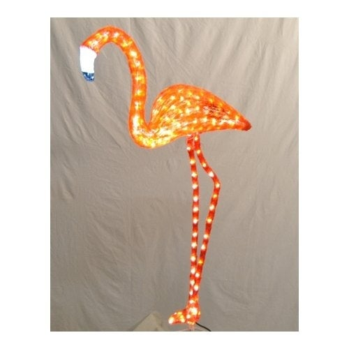 Christmas at Winterland WL-FLMG-03-PI 3 Foot Pink Flamingo LED Light Display wit