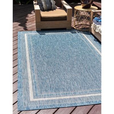 Unique Loom Outdoor Soft Border Transitional Area Rug