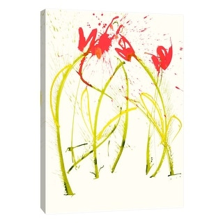 "PTM Images 9-108837  PTM Canvas Collection 10"" x 8"" - ""Gestural Florals 5"" Giclee Flowers Art Print on Canvas"