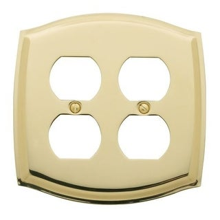 Baldwin 4781 Colonial Style Solid Brass Double Duplex Switchplate