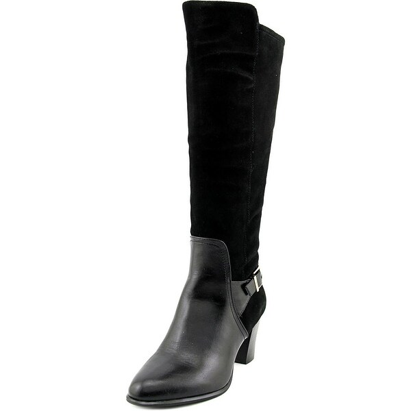Alfani Careeni Women  Round Toe Suede Black Knee High Boot