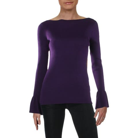 Lauren Ralph Lauren Womens Sweater Long Sleeves Ribbed