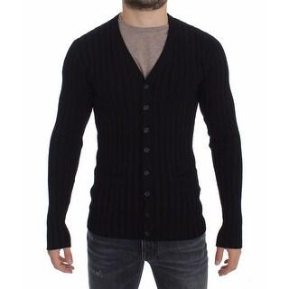 Dolce & Gabbana Dolce & Gabbana Black Silk Stretch Cardigan Sweater