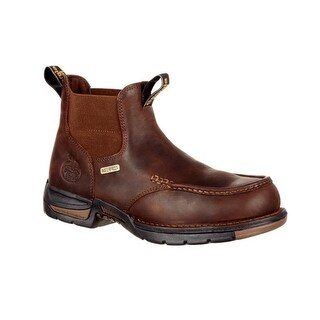 Georgia Boot Work Boots Mens Athens Chelsea WP Leather Brown GB00156