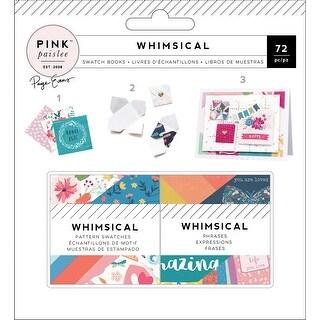"Paige Evans Whimsical Mini Swatch Books 2""X2"" 2/Pkg-Pattern & Phrase, 36 Sheets Each"