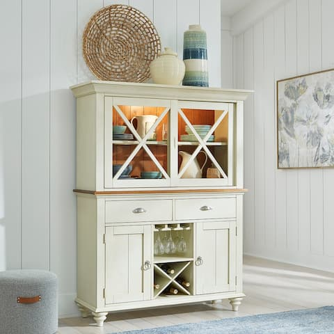 The Gray Barn Broken Bison Bisque with Natural Pine Hutch and Buffet