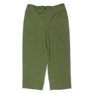 Alfred Dunner Womens Petites Straight Leg Pants Twill Comfort Waist - 18p