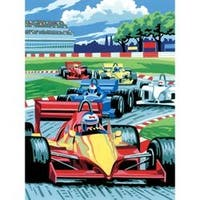 """Grand Prix - Junior Small Paint By Number Kit 8.75""""X11.75"""""""