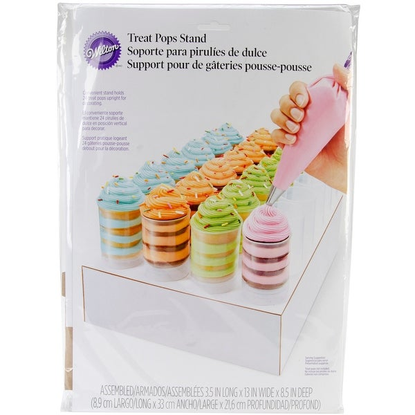 """Treat Pops Stand-White 3.5""""X13""""X8.5"""" Holds 24"""